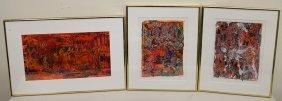 3 Acrylic Abstract Paintings - Ryvlin