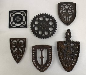 19th Century Sad Iron Trivets