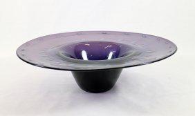 Hand Blown Amethyst Glass Bowl