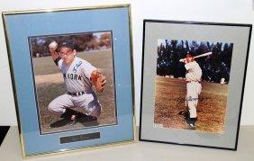 (2) Autographed Baseball Photographs