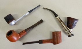(4) Vintage Smoking Pipes