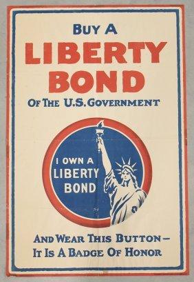 Wwi Buy Liberty Bonds Lithograph Poster - C 1917
