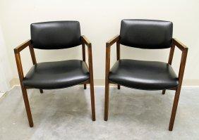 (2) Mid Century Modern Armchairs