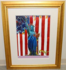 Peter Max United We Stand Painting