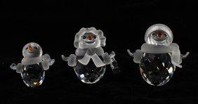 Swarovski Crystal Snowmen