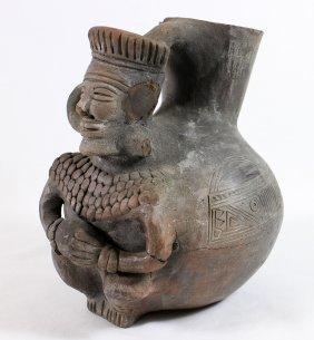 Pre Columbian Deity Vessel