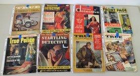 (8) Vintage Detective Magazines