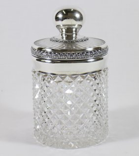 Gorham Sterling & Cut Glass Humidor