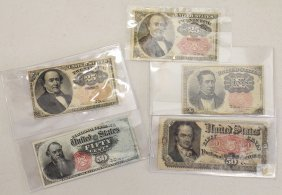 19th Century U.s. Fractional Currency
