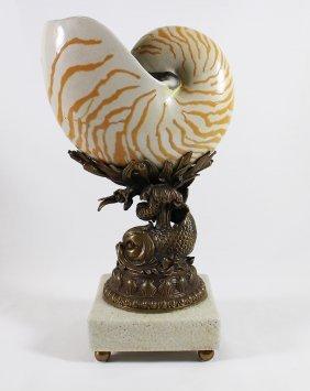Castilian Nautilus Shell Sculpture