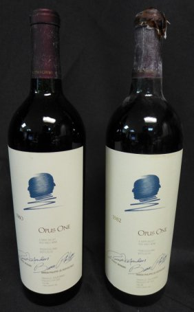 Two Bottles, Opus One 1980 & 1982