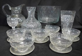 Collection Of Cut Crystal And Glass