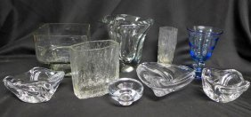 Collection Of Modern Art Glass