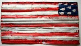 "Graffiti Painting: "" America"" Signed"