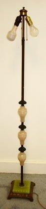 Antique Agate & Jadite Floor Lamp