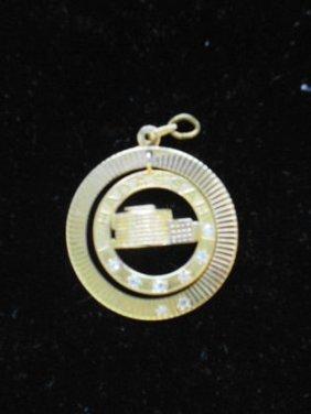 14k Gold & Diamond Hadassah Charm/ Pendant