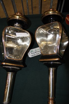 Matched Pair Of Carriage Lamps