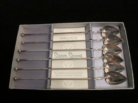 Sterling Silver Heart Sipper Spoons.