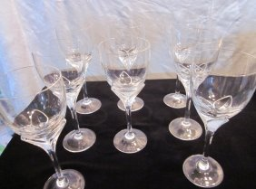 "8 Rosenthal ""Iris"" Wine Or Water Goblet Crystal Gl"
