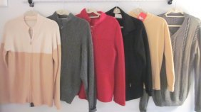 Lot Of 6 Designer Cashmere Sweaters