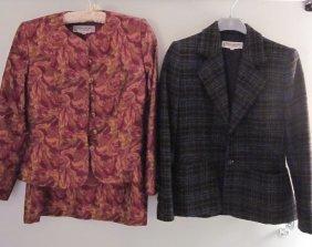 Lot Of 3 YSL Rive Gauche Pieces 1 Skirt Suit /Blaz