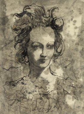 Eugene BERMAN (1899-1972) Portrait Of A Woman, 1941