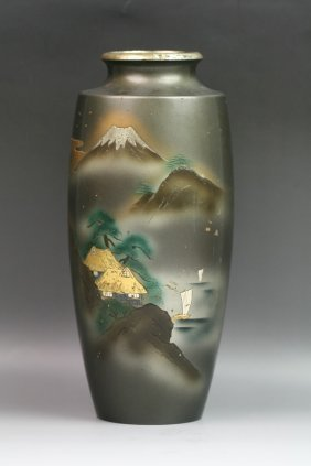 Japanese Antique Shuzan Mixed Metal Vase