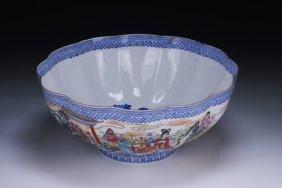 A Chinese Famille Rose Eggshell Porcelain Bowl