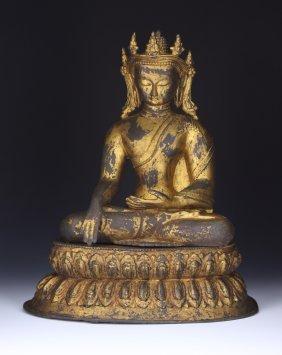 A Chinese Antique Bronze Buddha