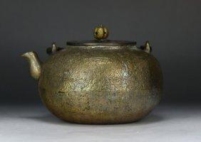A Japanese Antique Iron Teapot