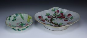 Two (2) Chinese Antique Famille Rose Plates