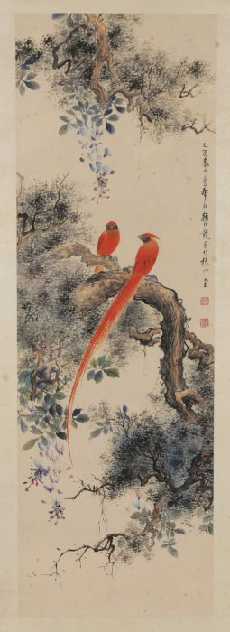 A Chinese Framed Paper Painting By Yan, Bolong