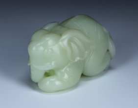 A Chinese Jade Carved Elephant