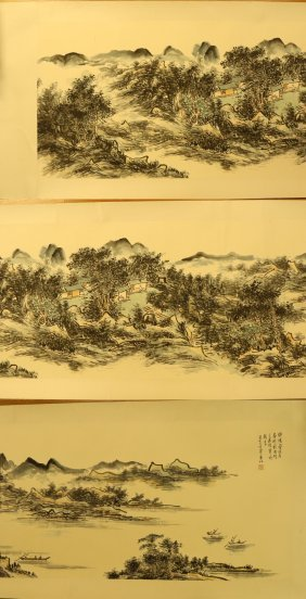 A Chinese Unmounted Paper Painting By Huang, Binhong