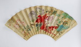 A Chinese Paper Painting Fan
