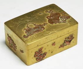 A Japanese Antique Mixed Metal Box