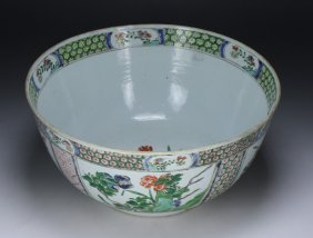 A Big Chinese Antique Famille Rose Porcelain Bowl