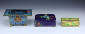 Three (3) Chinese Antique Cloisonne Items