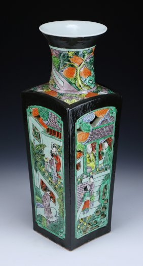 A Big Chinese Antique Famille Verte Porcelain Vase