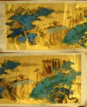 A Chinese Unmounted Paper Painting