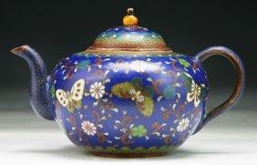 A Japanese Antique Cloisonne Teapot