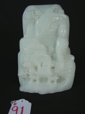 OLD CHINESE HAND CARVED JADE SCULPTURE