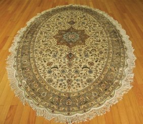 OVAL SILK AREA RUG