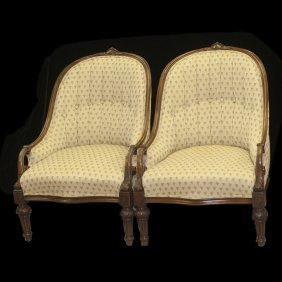 Pair Of Wooden Arm Chairs