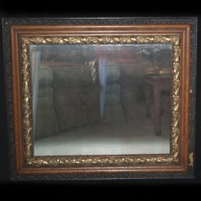 Triple Tone Wooden Mirror