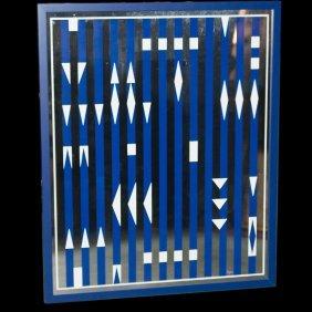 "Yaacov Agam(israeli 1928) ""bleu And White Rythme"""
