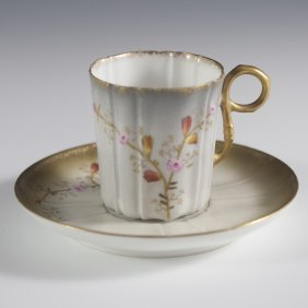 Limoge Demitasse Cup And Saucer
