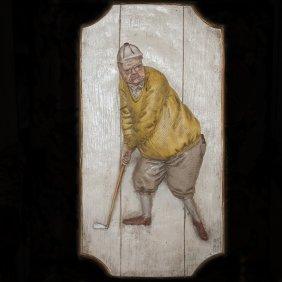 Golfer Wall Plaque