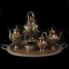 Mexican Copper Tea Set