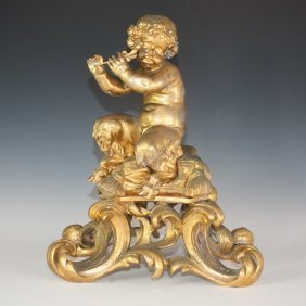Gilded Bronze Satyr Statue